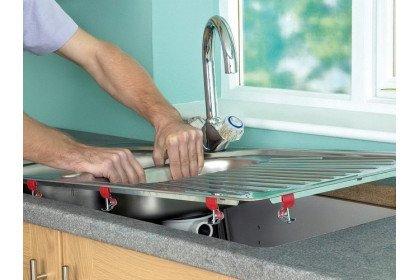 Как самому установить кухонную мойку