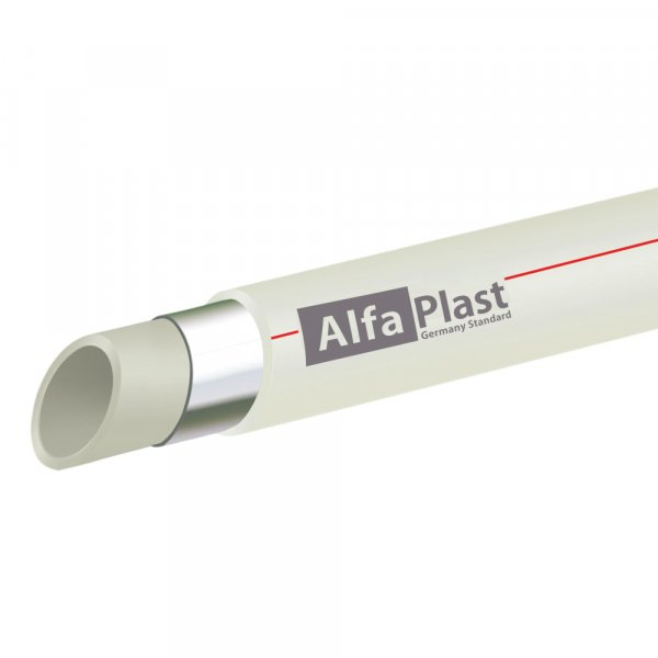Труба PPR Alfa Plast PPR/AL/PPR армированная алюминием 40 Картинка 12295