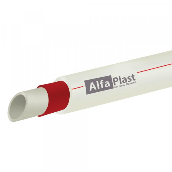 Труба PPR Alfa Plast армированная стекловолокном 63х8,6 Картинка 14224