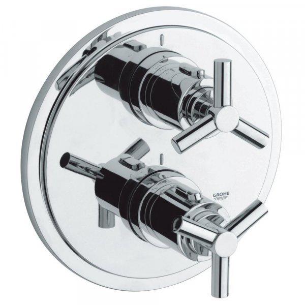 Внешняя часть термостатического смесителя для душа Grohe Atrio 19395000 на два потребителя Картинка 15897