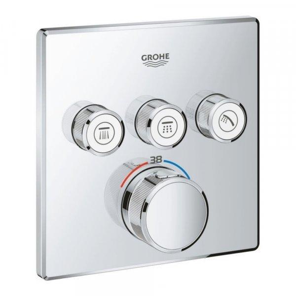 Внешняя часть термостатического смесителя для ванны Grohe Grohtherm SmartControl 29126000 на три пот Картинка 22789
