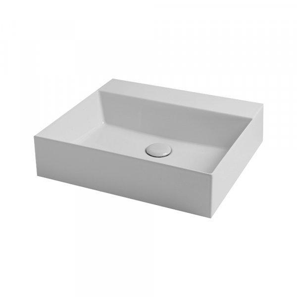 Раковина Azzurra Elegance squared EQA50MB1 Shiny white Картинка 23648