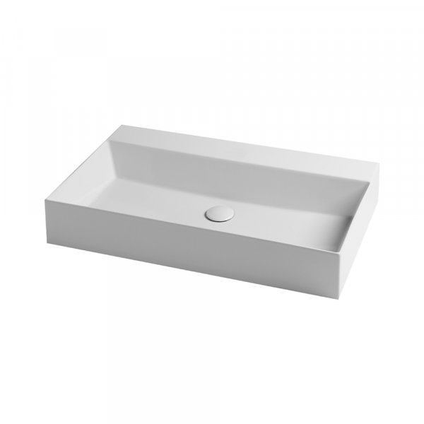 Раковина Azzurra Elegance squared EQA75MB1 Shiny white Картинка 23661