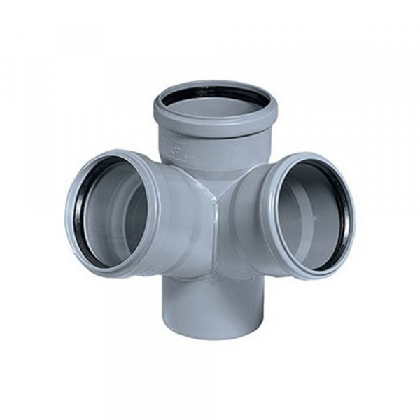 Крестовина PPR канализационная Ostendorf HT-Safe 110, 67° Картинка 24686