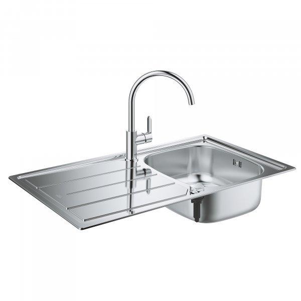 Набор Grohe мойка кухонная K200 31562SD0 + смеситель BauEdge 31367000 Картинка 25006