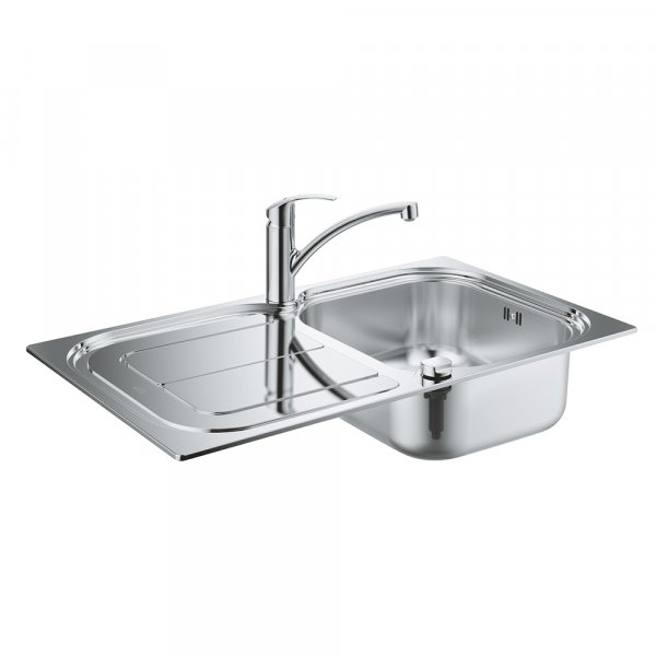 Набор Grohe мойка кухонная K300 31565SD0 + смеситель Eurosmart 33281002 Картинка 25009