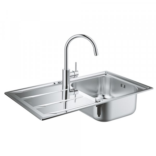 Набор Grohe мойка кухонная K400 31570SD0 + смеситель Concetto 32663001 Картинка 25013