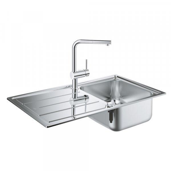 Набор Grohe мойка кухонная K500 31573SD0 + смеситель Minta 32168000 Картинка 25019