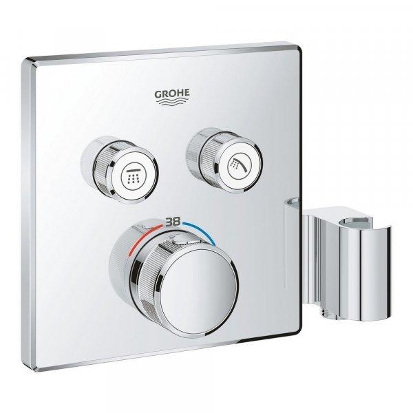 Внешняя часть термостатического смесителя для душа Grohe Grohtherm SmartControl 29125000 на два потребителя Картинка 25030