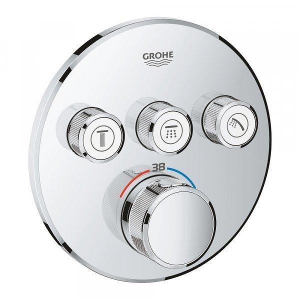 Внешняя часть термостатического смесителя для душа Grohe Grohtherm SmartControl 29121000 на три потребителя Картинка 27249