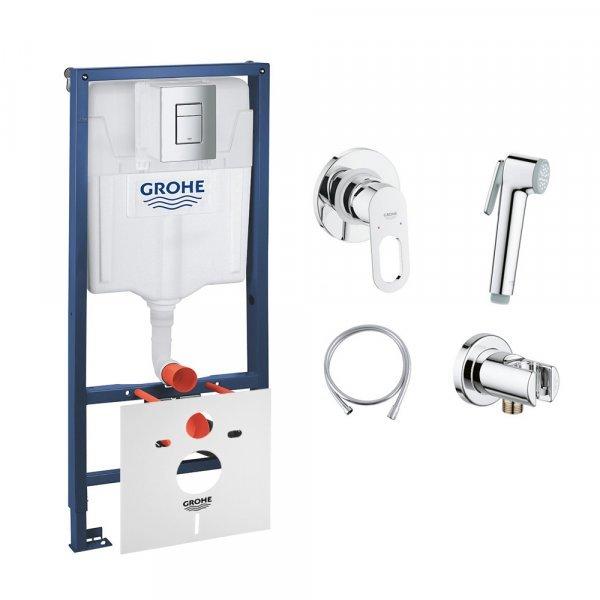 Комплект Grohe инсталляция Rapid SL 38772001 + набор для гигиенического душа со смесителем BauLoop 1 Картинка 32128