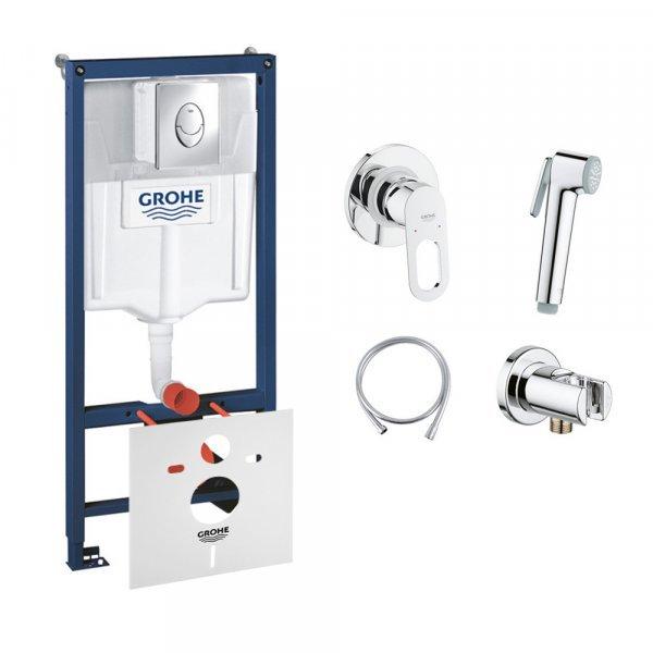 Комплект Grohe инсталляция Rapid SL 38721001 + набор для гигиенического душа со смесителем BauLoop 1 Картинка 32129