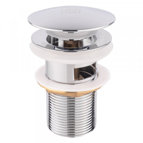 Донный клапан для раковины Lidz (CRM)-47 00 003 00 с переливом Картинка 32526