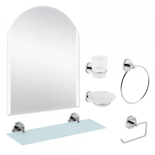 Набор для ванной комнаты SW 22-100 с зеркалом 5 в 1 Картинка 35808