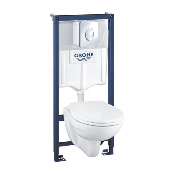 Инсталляция с унитазом Grohe Solido Compact комплект 4 в 1 39400000 Картинка 38046