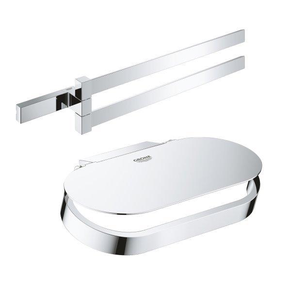 Набор аксессуаров Grohe полотенцедержатель Selection Cube 40768000 + держатель для туалетной бумаги Картинка 38652