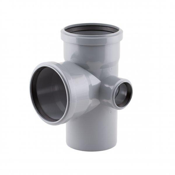 Крестовина канализационная (правая) TA Sewage 110х110х110х50, 90° Картинка 7196