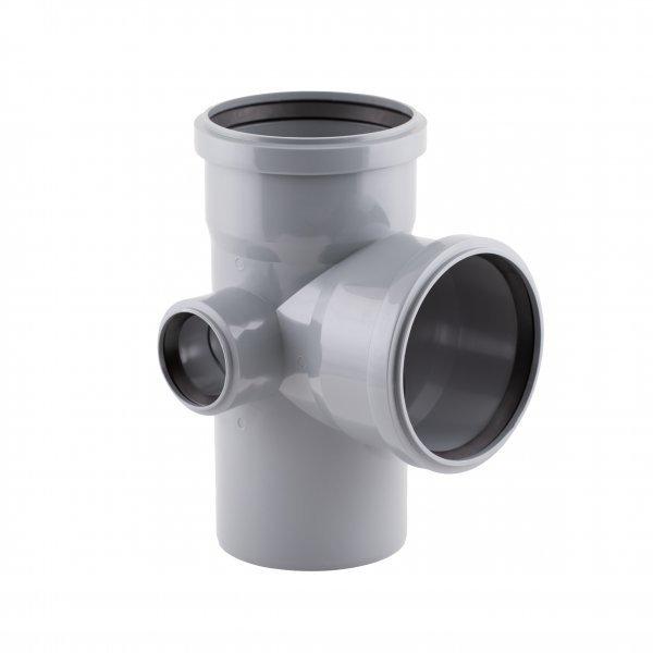 Крестовина канализационная (левая) TA Sewage 110х110х110х50, 90° Картинка 7197
