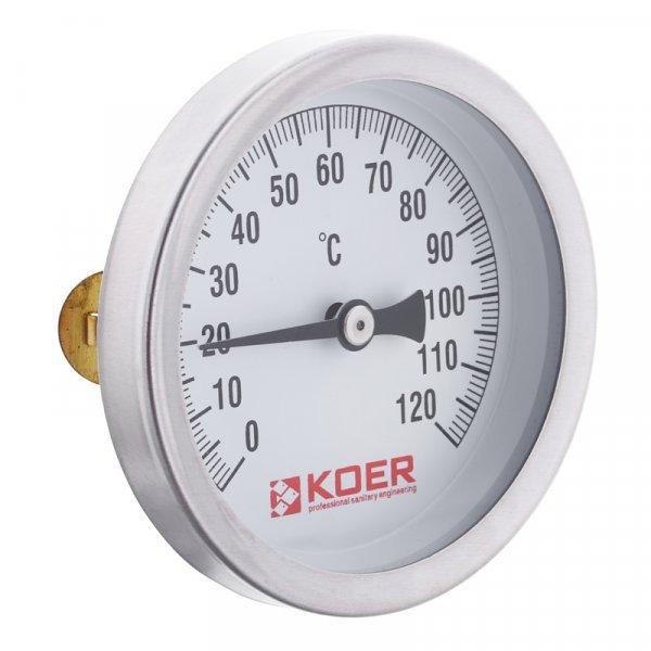 Термометр накладной с пружиной KOER KT.672A D=63мм (KR2897) Картинка KR2897
