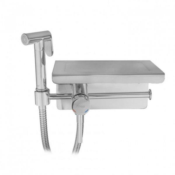Гигиенический душ Frap F7516 с полкой и бумагодержателем Картинка 1036524