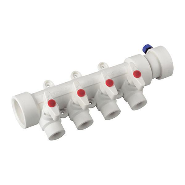 Коллектор 4-way с шаровыми кранами (40x20) PPR KOER K0171.PRO (KP0221) Картинка KP0221