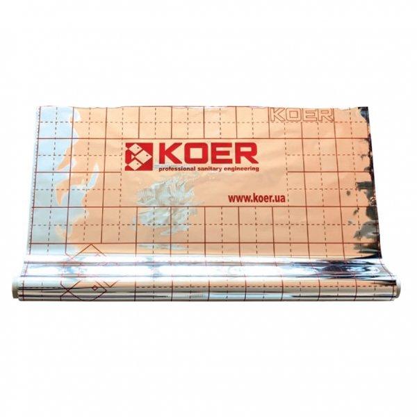 Пленка теплоотражающая металлизированная с разметкой KOER (рулон 50 м) (KR2868) Картинка KR2868